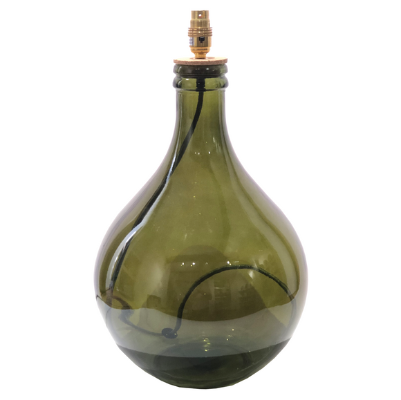 LARGE TEARDROP DEEP GREEN LAMP BASE