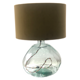 CLEAR GLASS LAMP BASE