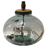 SMALL CLEAR GLASS LAMP BASE