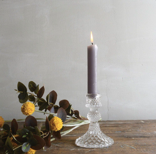 HARLEQUIN GLASS CANDLESTICK