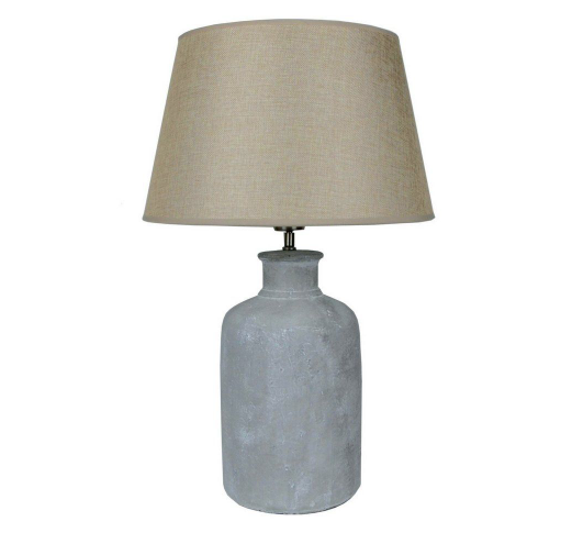 CERAMIC CASSIA LAMP with Taupe Shade