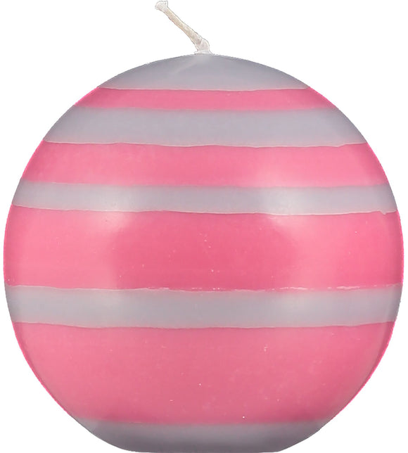 SMALL STRIPED BALL CANDLE - Neyron Rose & Willow Grey