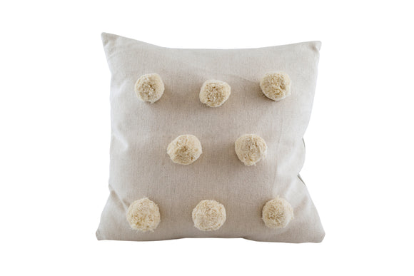 POM POM CUSHION - Natural