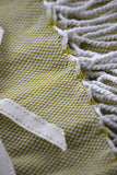 MOSS GREEN BASKET WEAVE THROW