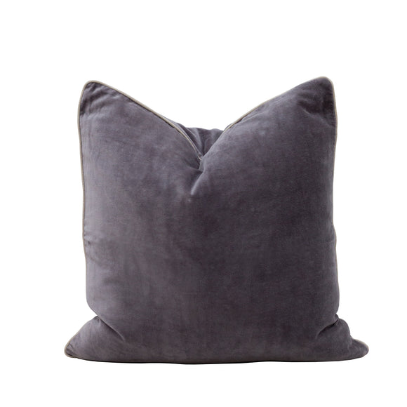 VELVET CUSHION - Grey