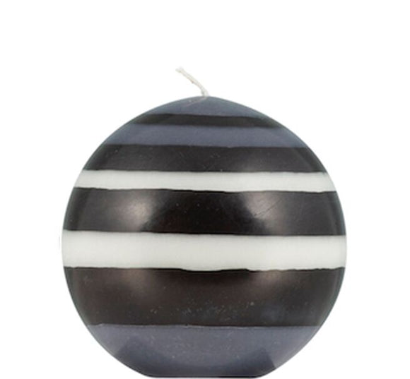 SMALL BALL CANDLE - Jet Black, Pearl White & Dove Grey