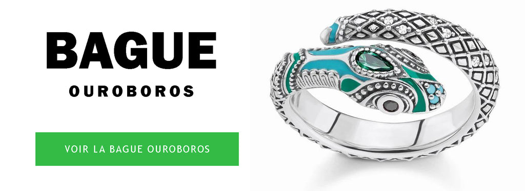 Bague Serpent Ouroboros