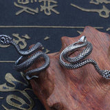 Bague Serpent Fine l Snake Temple