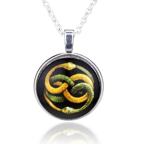 Collier Serpent Acier Inoxydable l Snake Temple