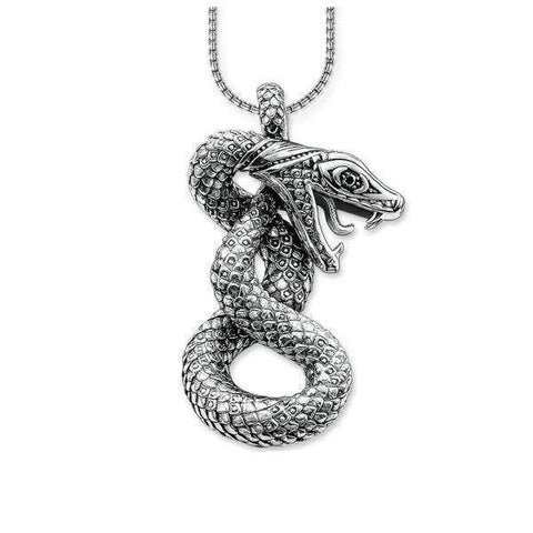 Collier Serpent Argent Homme l Snake Temple