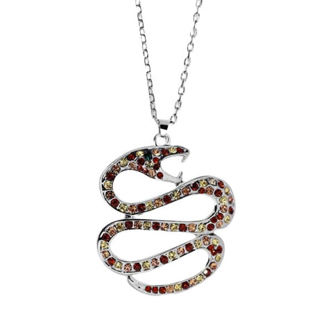 Collier Serpent Lovage de Rubis (Zirconium)