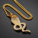 Collier Serpent le Salut du Cobra (Zirconium)