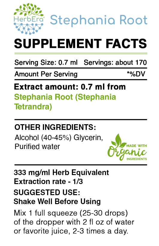 Stephania Root Tincture