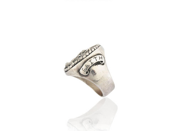 ROCK OF AGES RING (SILVER)