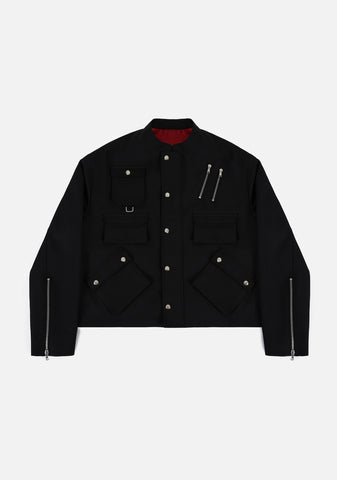 MULTI POCKET BLOUSON (BLACK)