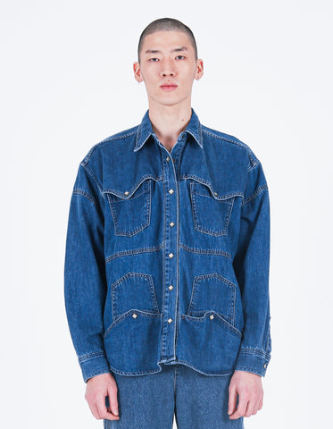 Upside-down Denim Shirt Indigo