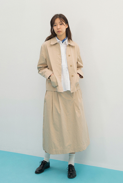 2-TUCK LONG SKIRT