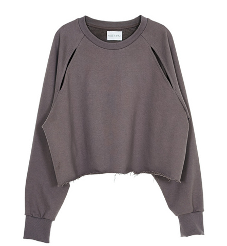 cutout sweatshirt (cloud)
