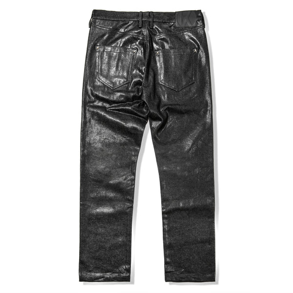 Black Coated Denim Pants