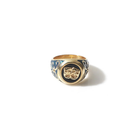 TWO FACE SIGNET RING (DEEP BLUE)