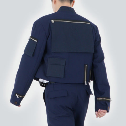CROPPED TECH BOMBER (NAVY)