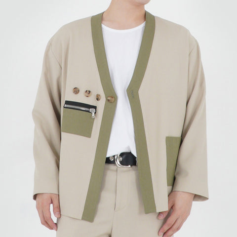 HAORI CARDIGAN JACKET (LIGHT BEIGE)