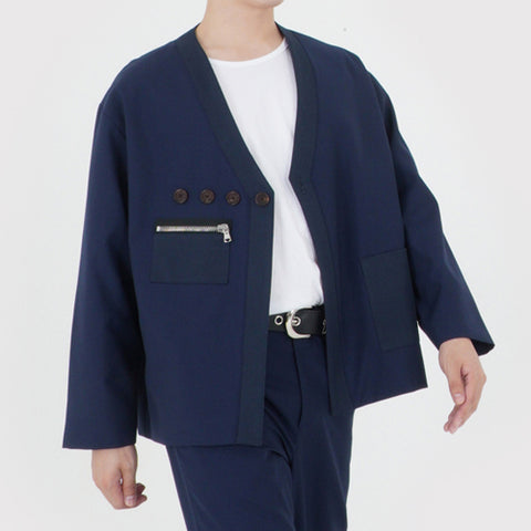 HAORI CARDIGAN JACKET (NAVY)
