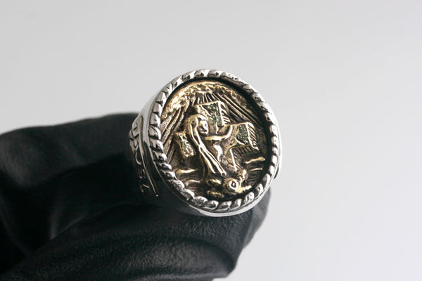 ROCK OF AGES RING (SILVER/BRASS)