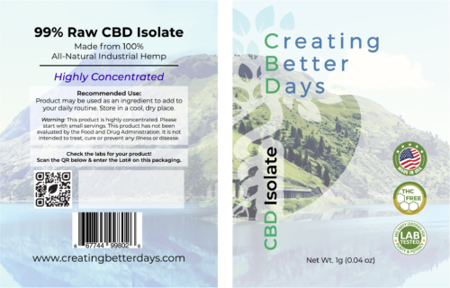 CBD Isolate 994mg Fact
