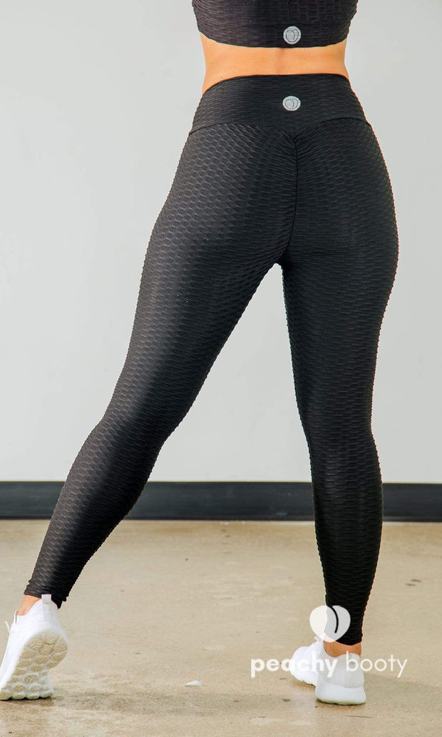 Saucy Stripes Leggings - Bootyful Peach