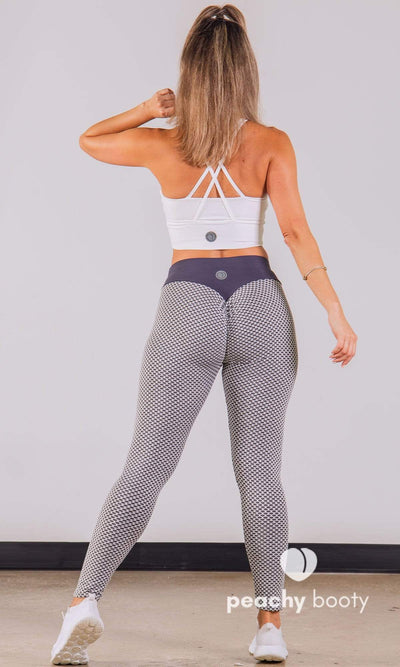 Bubble Butt Gray Lift Leggings - Bootyful Peach