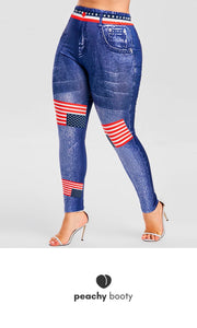 American Gal - Plus size leggings - Bootyful Peach