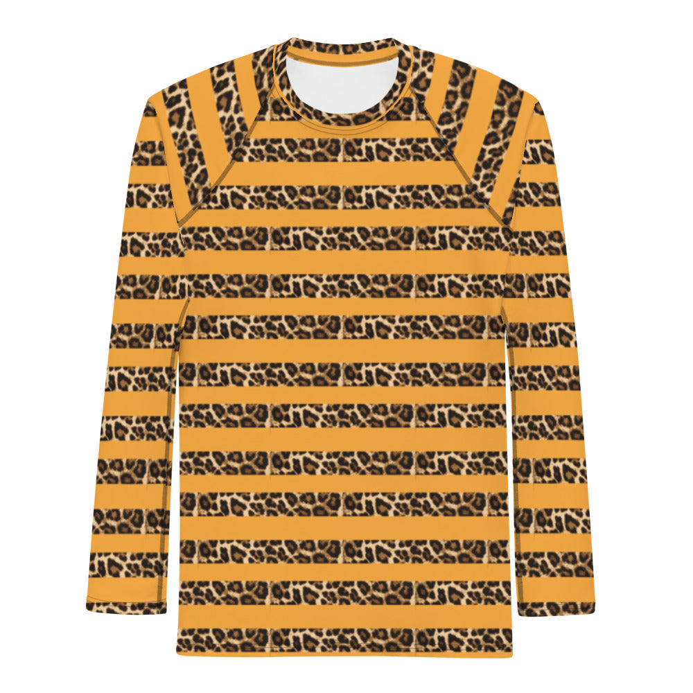 LEOPARD STRIPE THERMAL UNDER SHIRT