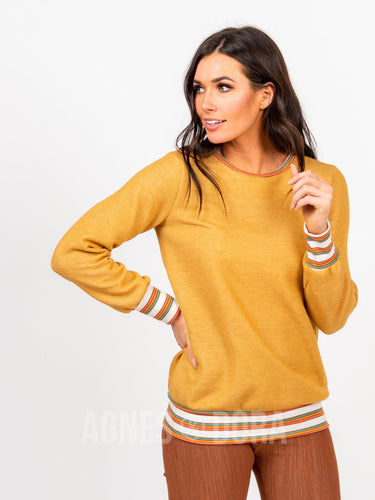 Agnes & Dora™ Behind the Seams Sweatshirt Sun Stripes