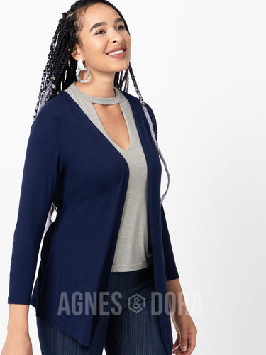Agnes & Dora™ Country Road Cardigan Navy