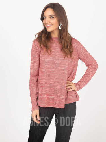 Agnes & Dora™ Cross Over Sweater Coral