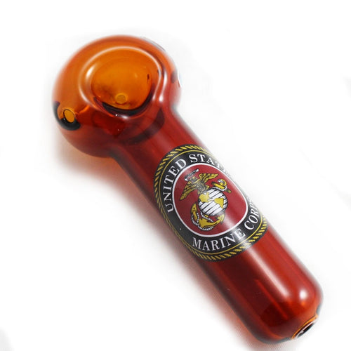 Wholesale Chameleon Glass - Marines Spoon Pipe - Nevernaire Smoke shop