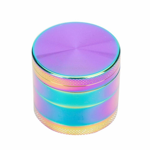 Hand Muller Tobacco Herb Grinder Rainbow 12 Count Display 50mm - Nevernaire Smoke shop