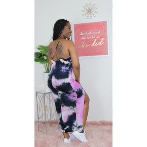 Tessa Tie Dye Dress I Purple