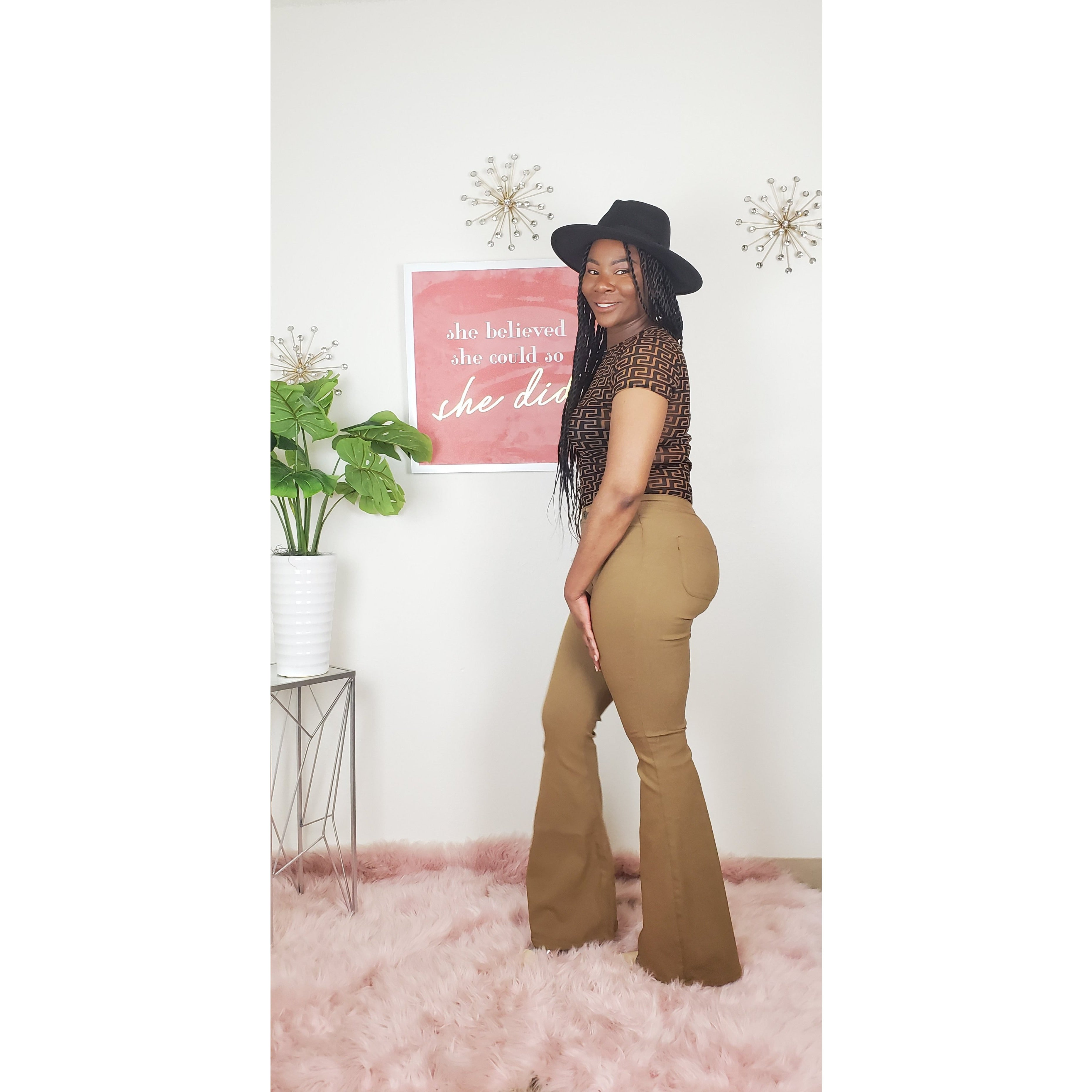 Fit & Flare Jeans (mocha)