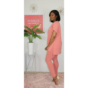 Leggings Loungewear Set (coral)
