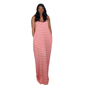 Stripe Me Maxi Dress