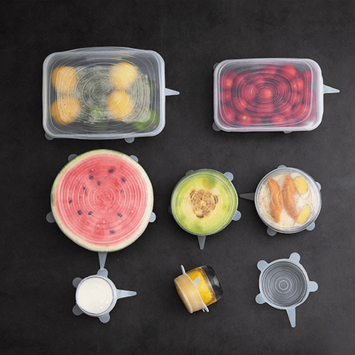 BUY 1 GET 1 - 6 in 1 Premium Silicone Food Lid (12pcs)