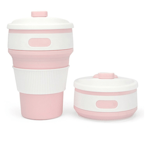 2-in-1 Premium Collapsible Travel Cup
