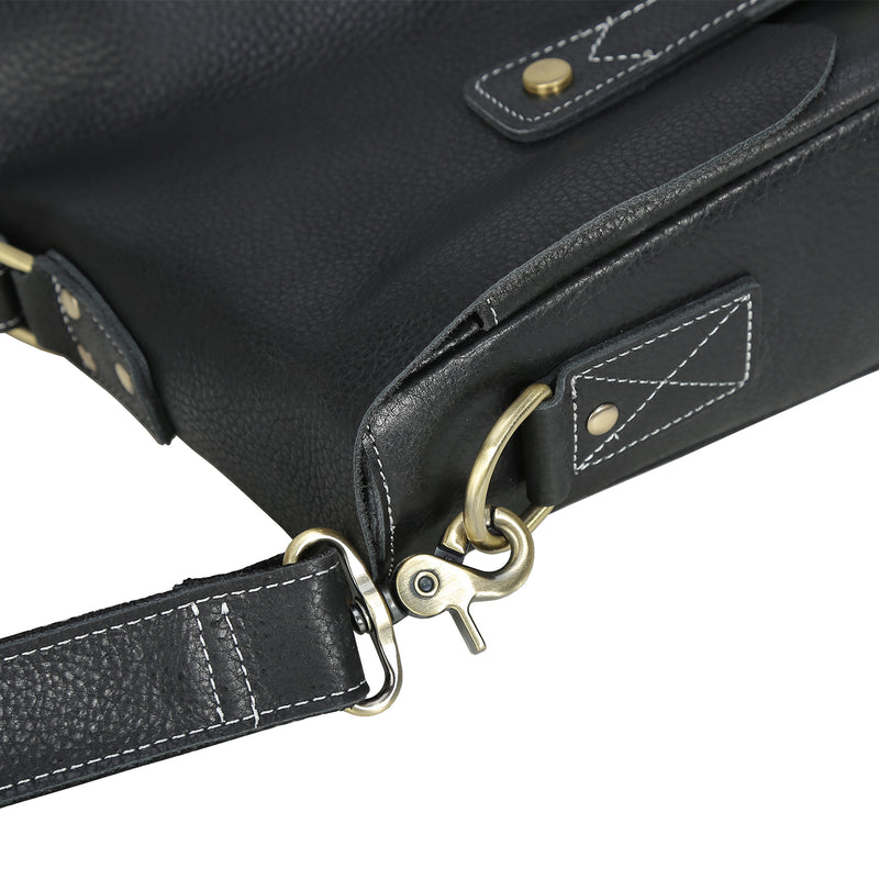 Polare Casual Leather Messenger Work Bag (Hardware)