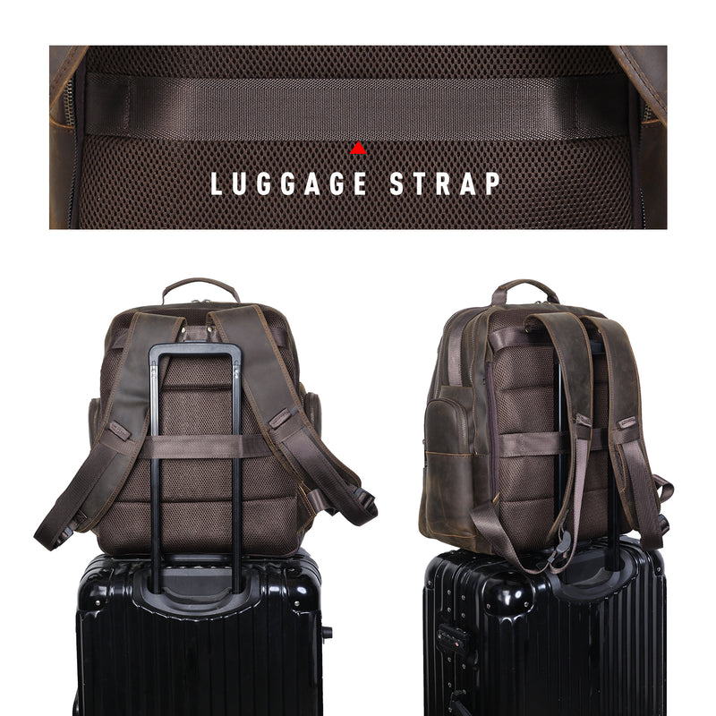 Polare Leather Multi-Functional Backpack Stool Combo (Back)