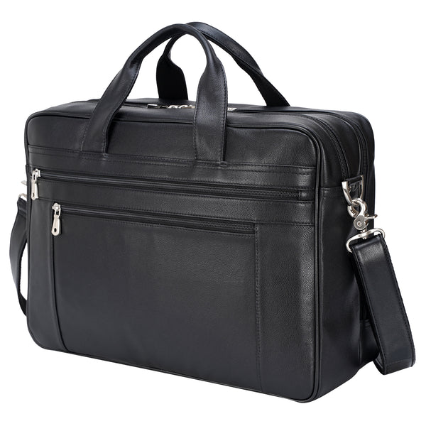 Polare Real Soft Napa Leather 17'' Briefcase Laptop Business Bag
