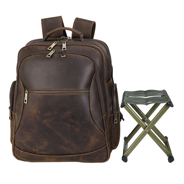 Polare Leather Multi-Functional Backpack Stool Combo