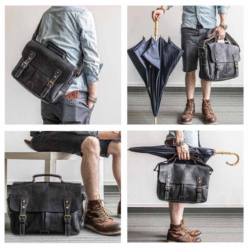 Polare Casual Leather Messenger Work Bag