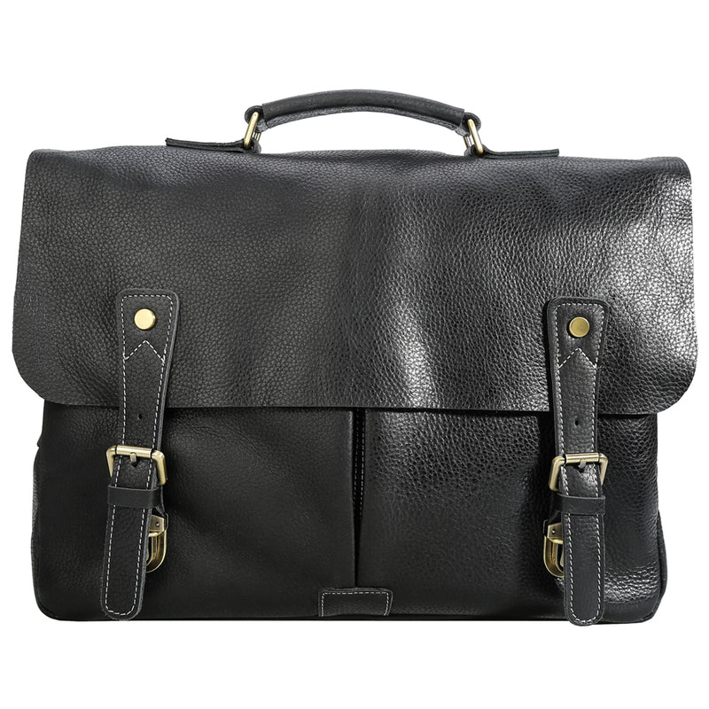 Polare Casual Leather Messenger Work Bag (Front)